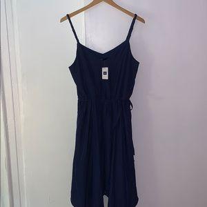 Blue asymmetrical Gap dress